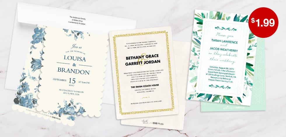 5x7 Premium Cards - Wedding Invitations